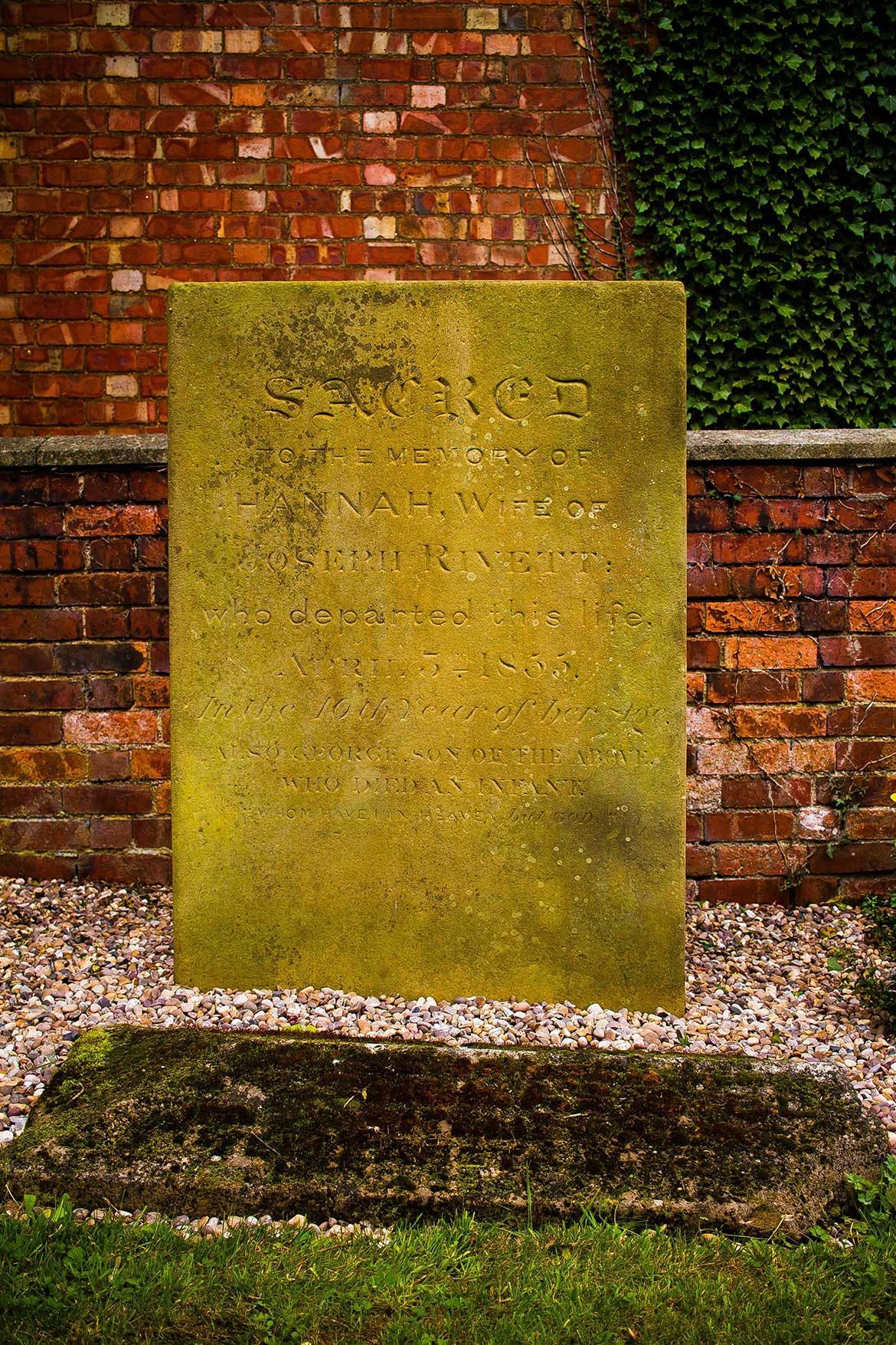he headstone - museum garden