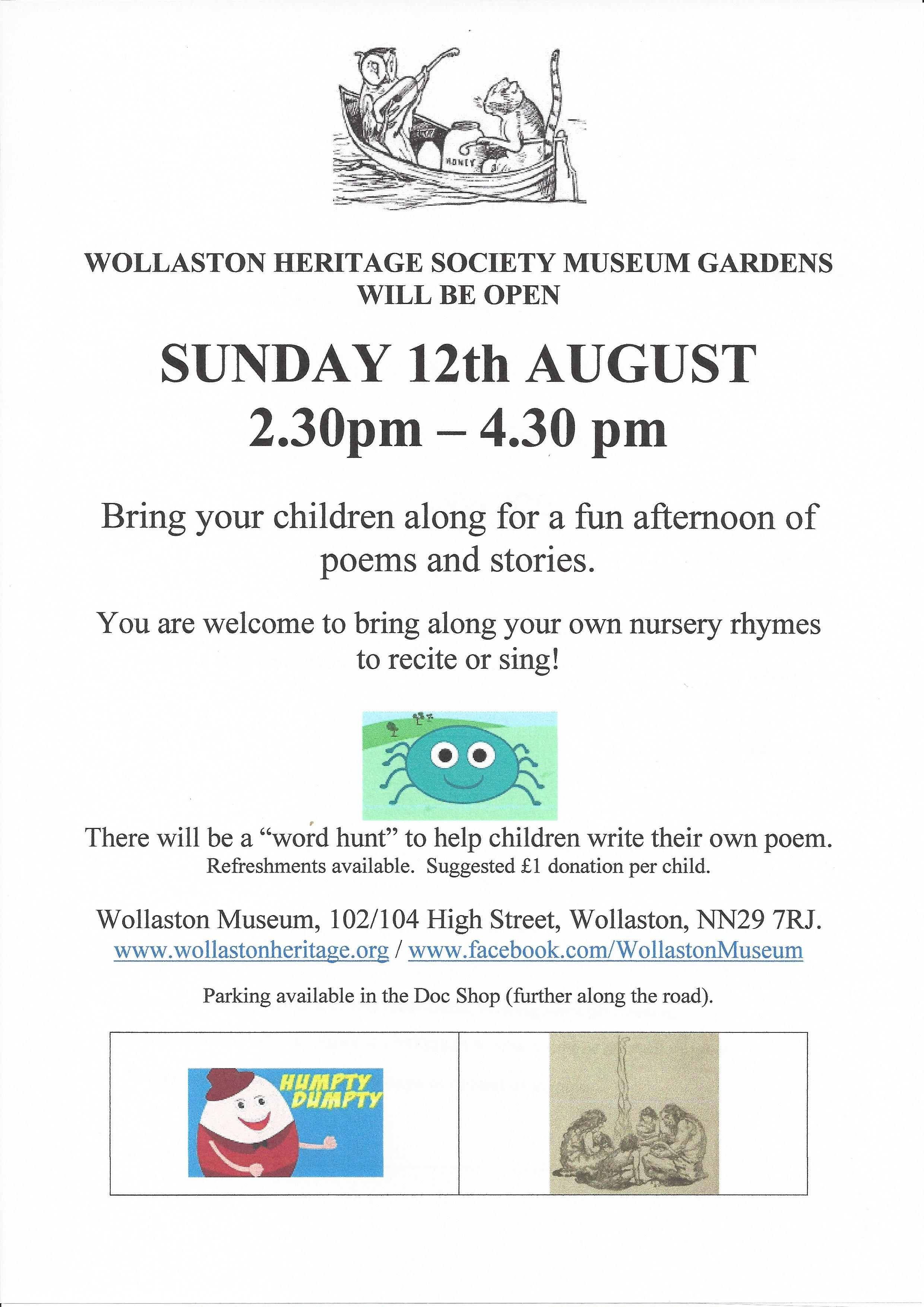 Childrens Poetry Event Wollaston Heritage Society