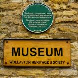 Wollaston Museum wall plaque